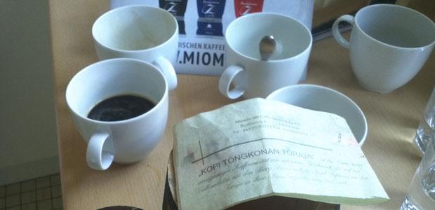 Miomida Kaffeetest in Brüssel