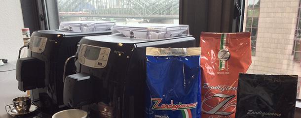 Zandegiacomo Kaffee Test im Büro
