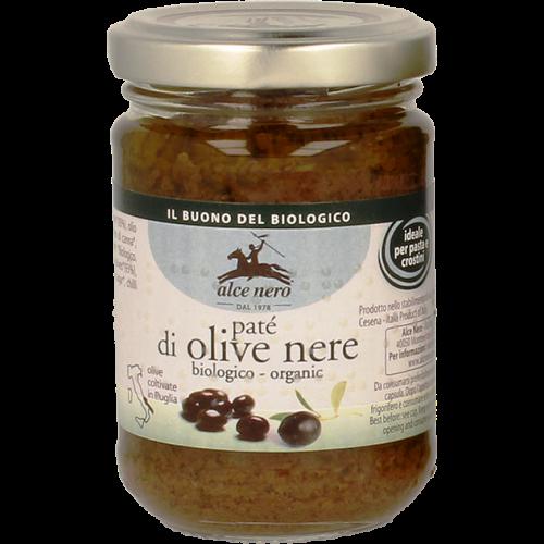Paté aus schwarzen Oliven aus biologischem Anbau 130 G